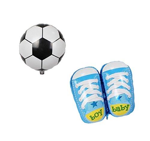 RM  Globo P018XL protectores aluminio globo de aire Baby Shower party Happy birhtday New Born bebé fiesta de cumpleaños Ball y zapato  RM