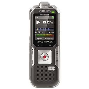 Philips DVT 6000 Dictaphones Connexion PC, Type de Stockage: Mémoire Interne, Activation Vocale, Enregistreur MP3 GRIS