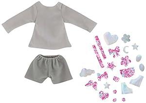 Corolle-Sudadera y pantalón Corto con customiser para muñeca Ma Chérie creación, fpr75