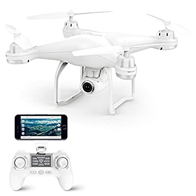 GPS Drone, Potensic T25 GPS 1080P HD WiFi Camcorder FPV RC Drone 2.4Ghz Remote Control Quadcopter with Wide-Angle Function-Adjustable Camera Follow Me Suspension Altitude Hold Headless Mode Function and Long Control Range by Potensic
