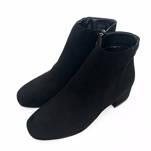 Donne cerniera scarpe stivali pendenza Jamicy Mid Martin Heel Nero piattaforma Ftnd6w6qC