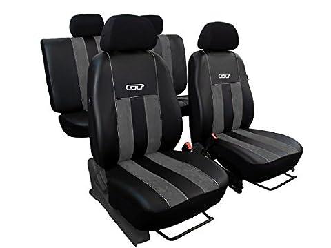 Autositzbezüge passend für VW GOLF (1-6). Sitzbezüge Set ECOLEDER mit ALCANTARA - DESIGN