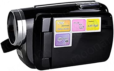 Generic Red : Mini DV 1.8 inch D1 Pcs Camera 4 x Digital Zoom 12 Mega pixel TFT LCD Camcorder with Hand Grip Black/Red LS