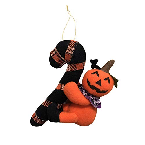 FUPOA Halloween Decorazione del Partito Fantasma Zucca Gatto Nero Peluche Bambola Decorazione Puntelli Festivi Ciondolo Appeso Ciondolo Regalo Creativo, Giallo, 1 pz