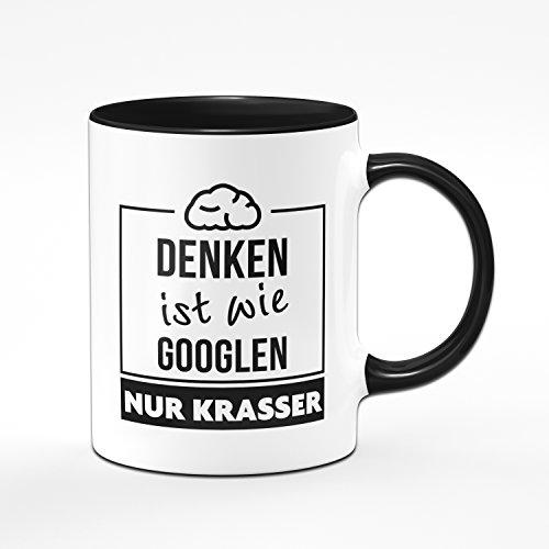 Tasse Denken ist wie Googlen nur Krasser - Kaffetasse, Kaffebecher, Kaffee, Sprüchetasse - 2