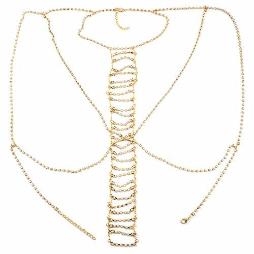 Allergikerfreundlich verabschiedet SGS Inspektion Halskette Sexy Deluxe Brust Kette Nachtclubs Bars gut schmecken Link-Drill Collarbone Halskette, -