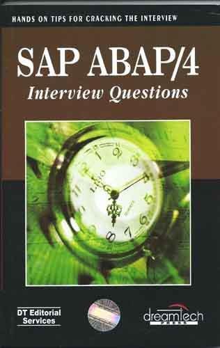 SAP ABAP/4 Interview Questions Hands On For Cracking the Interview 1st Edition price comparison at Flipkart, Amazon, Crossword, Uread, Bookadda, Landmark, Homeshop18