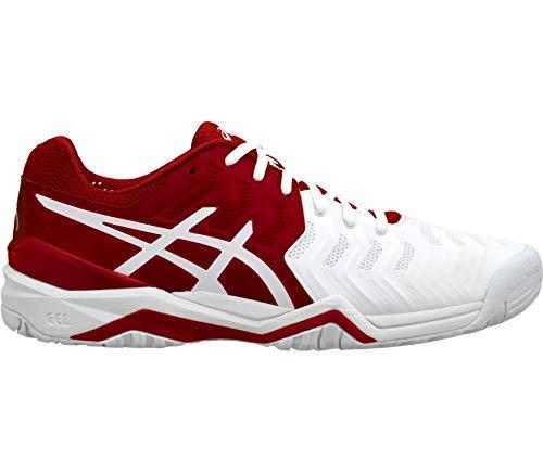 Asics Uomini Gel-Resolution Novak Clay Scarpe da Tennis Scarpa per Terra Rossa Rosso - Bianco 44
