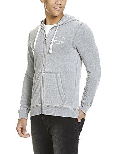 Bench Herren Kapuzenpullover Zip Hoodie Grau (Sharkskin GY11315)