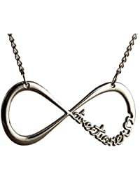 One Direction 1D Infinity Silver Plated Pendant Necklace For Men And Women.