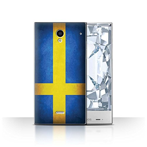 Stuff4® Hülle/Case für Sharp Aquos Crystal/306SH / Schweden/Schwedische Muster/Flagge Kollektion -