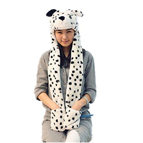 FENICAL 3 in 1 Funktion Kartoon Tiere Hood Schal Kappen (Dalmatiner Baby Für Kostüme)