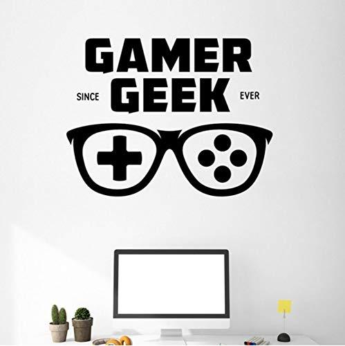 Pbbzl Spiel Griff Brille Aufkleber Gamer Aufkleber Gaming Poster Gamer Vinyl Wandtattoos Dekor Wandbild Videospiel Aufkleber 40X52 Cm