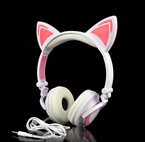Caracteristicas: ◆ LED luces brillantes en las orejas de gato ◆ Auriculares cerrados dinámicos ◆ Diadema plegable  ◆Driver 40mm  ◆Control de micrófono y teléfono inteligente Especificaciones L107 ◆ Puertos e interfaces ...