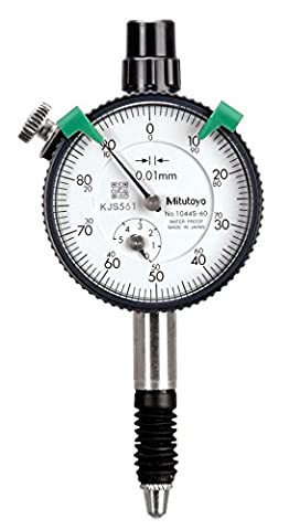 Mitutoyo 1044s-60Series 1Compact Messuhr, metrisch, Typ, wasserdicht, mit Lug, 5mm/1mm Range/Pro Rev, 0–100Lesen