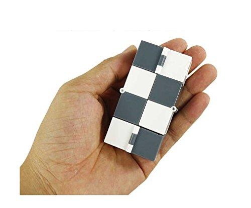 Preisvergleich Produktbild ulooie Infinity zappeln Cube Stress Relief und Angstgefühle Spielzeug für Kinder und Erwachsene (weiß und grau)