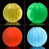 leegoal LED Dog Ball Glow Ball, Bounce Sfera della Luce Lampeggiante Giocattoli, Squeaky Gomma Chew Molar Elastico Spike Ball Fun Giocattolo per Cani Night Play