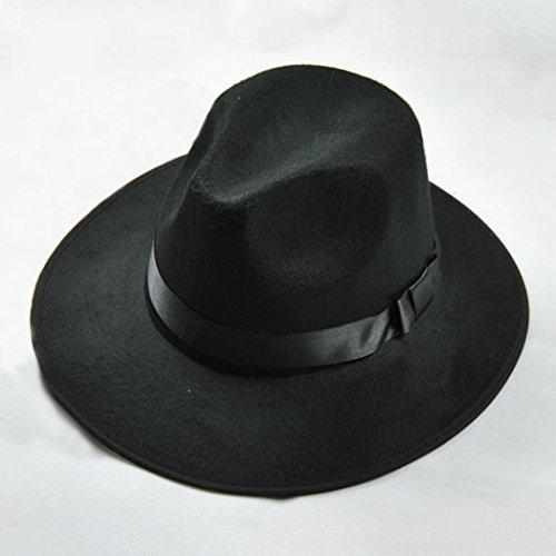 Vintage Cap Männer Frauen mit breiter Krempe Fedora Trilby Panama Hut harte Hüte Gangster, (Gangster Frauen)