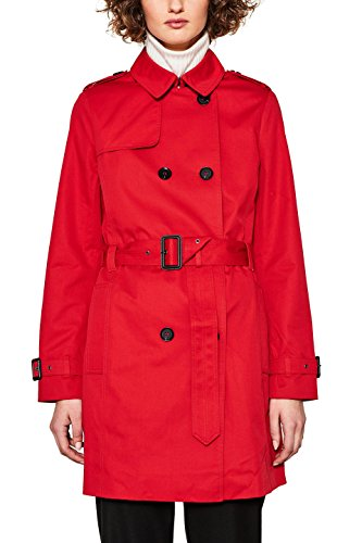 ESPRIT Damen Mantel 127EE1G009, Rot (Red 630), Medium