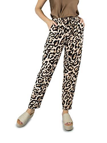 VISSTEME Pantalon Fluido Estampado Leopardo
