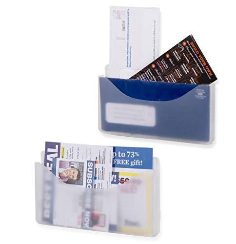 Wall Origami Wandhänge-Tasche, Büro-Organizer und Wandmontage, Milchglas-transparent, 2 Stück -