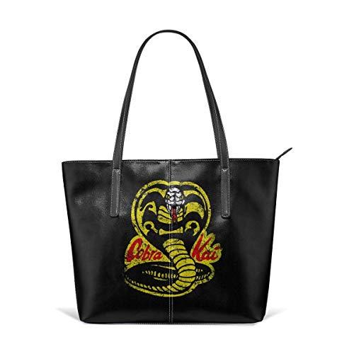 xcvgcxcbaoabo Mode Handtaschen Einkaufstasche Top Griff Umhängetaschen Women's Hand Bag Waterproof Crossbody Bags Ladies Single Shoulder Cowhide Evening Purses Party Bags Printed with Cobra Kai