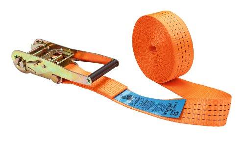 Kerbl 37147 Ratschenzurrgurt 1-teilig, 50 mm / 6 m, Zugkraft 2000 / 4000 kg, orange