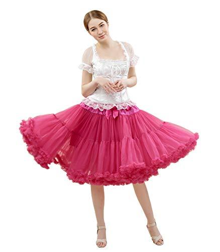 045036ebe FOLOBE Traje de tutú para Mujer Baile de Ballet Falda hinchada Lujoso  Adulto Enagua de Gasa Suave