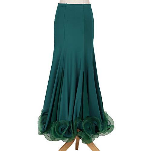 MoLiYanZi Elegant Glatte Ballsaal-Übungs-Tanzkostüme für Frauen Röcke für Erwachsene Walzer Tango Trainingskleid, L (Rock Of Ages Kostüm Mädchen)