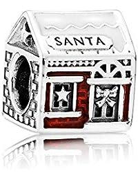 Abalorio Charm Pandora 792003ENMX Mujer Plata Casa de Santa