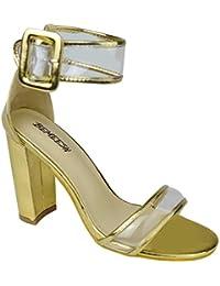 2884b77964c Amazon.es  Dorado - Zapatos de tacón   Zapatos para mujer  Zapatos y ...