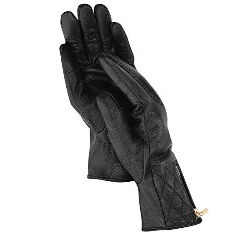 Navaris Touchscreen Nappa Lederhandschuhe für Damen - Leder Handschuhe aus Lammleder mit Kaschmir Mix Futter - Damenhandschuhe mit Touch Funktion