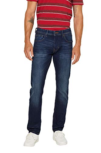 Dark Wash Blue Jean (edc by ESPRIT Herren 998Cc2B819 Slim Jeans, Blau (Blue Dark Wash 901), W28/L32 (Herstellergröße: 28/32))
