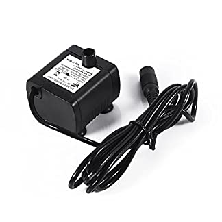 DC12V Solar Amphibious Mini Submersible Electric Water Pump Ultra-quiet Aquarium Pump Air Water Pump to Fish Tank 41dCs3wpGQL