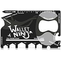 Vante-Wallet Ninja 18 in 1 Multi-purpose Credit Card Size Pocket Tool Black