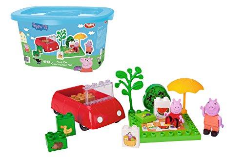 PlayBIG Bloxx - Peppa Wutz - Picknick Spaß - Spielset mit Peppa Pig Spielfiguren, kompatibel mit bekannten Bausteinen