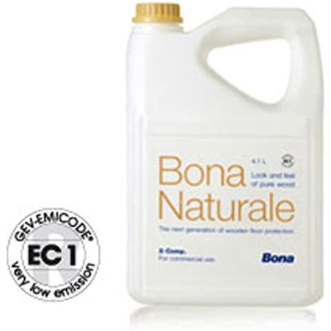 4,50lt de Bona Natural–Barniz al agua bicomponente de última generación, Deja el madera natural, come Fosse bruto.