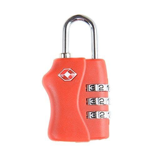 Lucchetto da viaggio con combinazione a 3 cifre approvata dalla TSA dimensioni: 4cm x 2,5cm x 1cm - Jasit