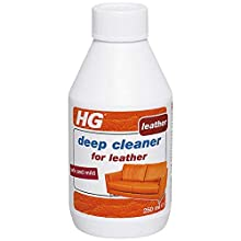 HG Deep Cleaner for Leather 250 ml - Cleans Leather Deep in The Pores - Safe and Mild - Water Basis
