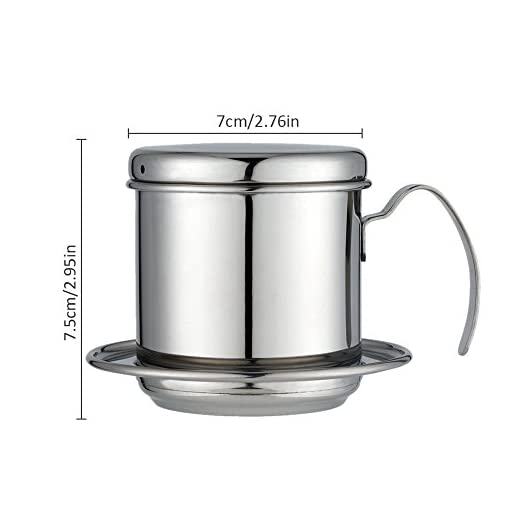 Bloomma Coffee Drip Cup, Stainless Steel Coffee Drip Percolator,Portable Coffee Filters Cup without Dripping Filter Paper for Kitchen,Office,Home,Outdoor Camping