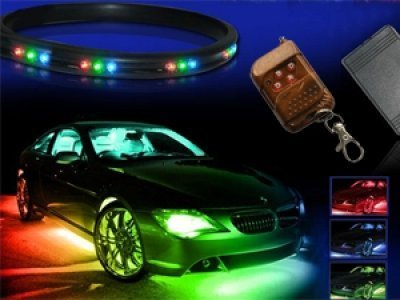 ZHOL 7-colors LED Undercar Neon Strip Underglow Underbody Under Car Body Glow Light Kit by ZHOL Undercar-kits