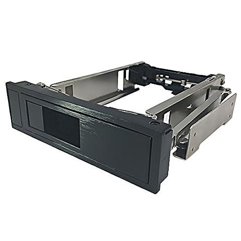 Rack Amovible Disque Dur Interne - GLOTRENDS H35 Rack amovible sans tiroir de 5,25 pouces pour disque dur SATA de 3,5 pouces, Rack mobile échange à chaud / Hot Swap, sans outil, échange à chaud, acier inoxydable