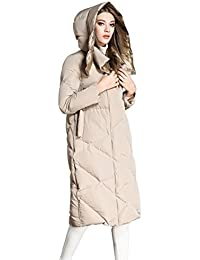 Queenshiny thick Long Women's Down Coat BOTH SIZES WEAR hooded Goose down filling winter uk size from 8--16