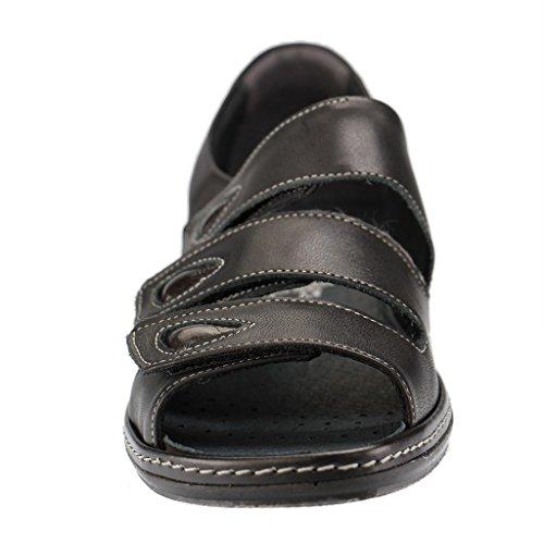 Comfortabel Damen Tiefbett in schwarz Schwarz