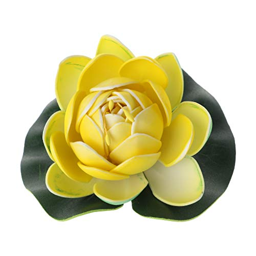 Lifet Künstliche Lotus Seerose Künstliche Pflanzen Künstliche Blumen Schaum Seerose Blume Dekor Für Aquarium Teich Pool Verwenden 3 Stücke Weiß (Echt Aussehende Aquarium Pflanze)