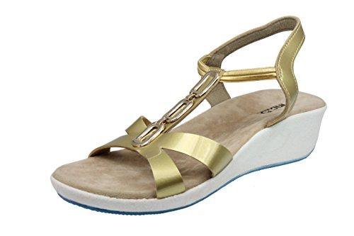 Inc.5 Women Gold Synthetic Fashion Sandals (14168_GOLD_7UK) - 7 UK