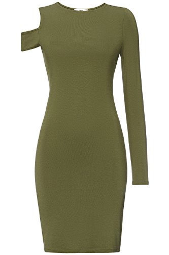 FIND Damen Cocktailkleid Grün (Khaki)