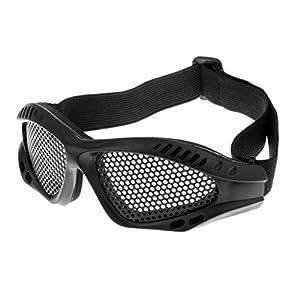 MagiDeal Metallgitter Schutzbrille Taktische Netz Brille für Outdoor Sport Radfahren, Verstellbarer Kopfband