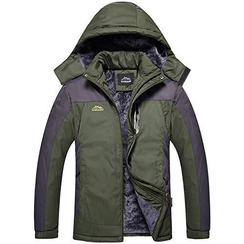 Odjoy-fan-uomo sezione media e lunga cappotto più velluto giacche cappotto giacca softshell impermeabile tattico vento outdoor trekking cappuccio giacca trapuntati finta moda giubbino