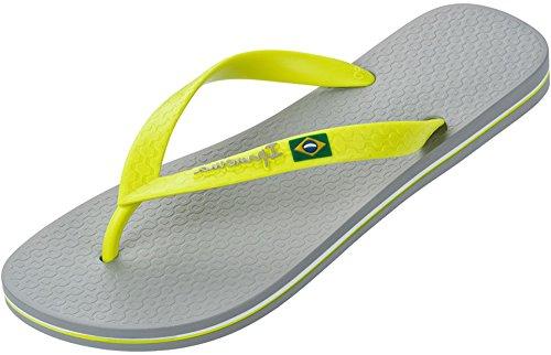 Ipanema, Ciabatte da spiaggia uomo Nero nero Grey/Yellow